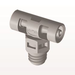 T Connector, Barbed, Natural - MT2