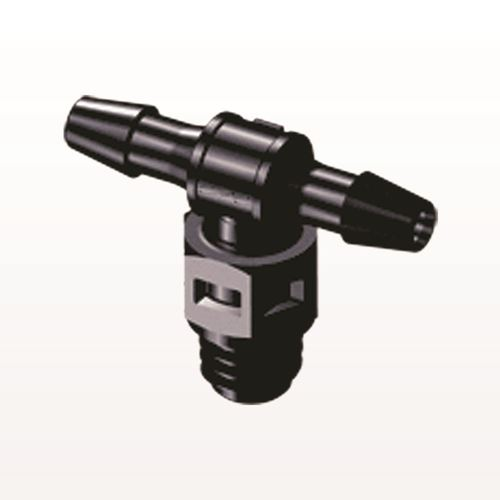 T Connector, Barbed, Black - MT331