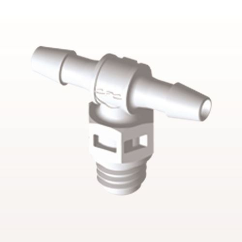 T Connector, Barbed, White - MT330