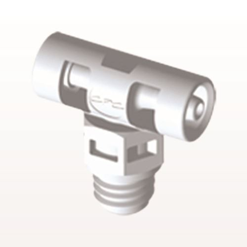 T Connector, Barbed, White - MT230