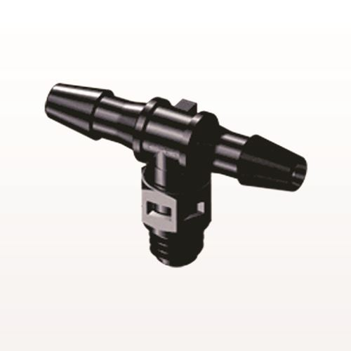 T Connector, Barbed, Black - MT431