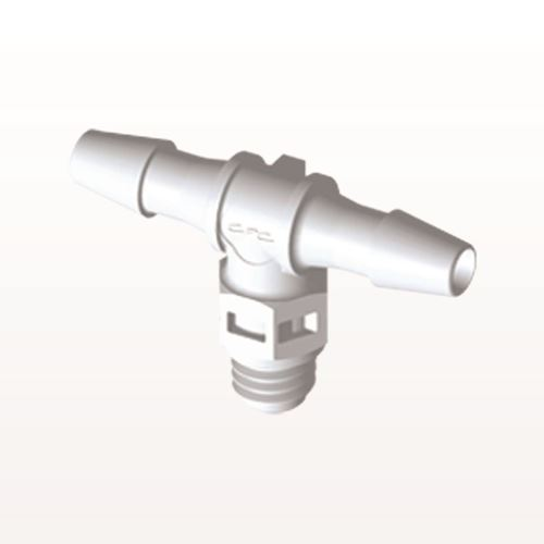 T Connector, Barbed, White - MT430