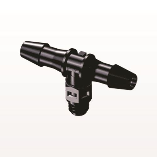 T Connector, Barbed, Black - MT531
