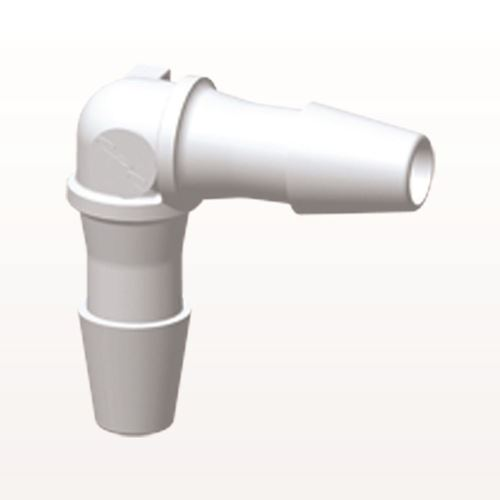 Elbow Connector, Barbed, White - HE430