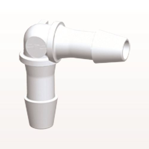Elbow Connector, Barbed, White - HE630