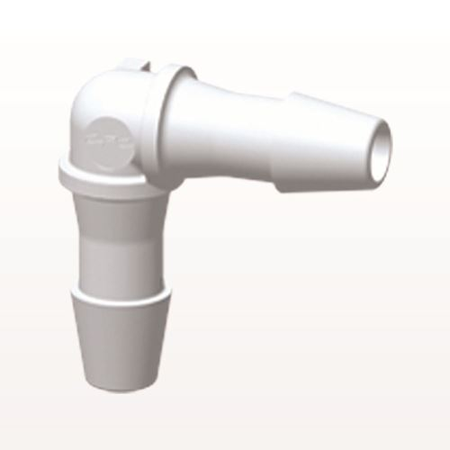 Elbow Connector, Barbed, White - HE530