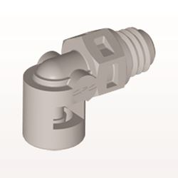 Elbow Connector, Barbed, Natural - ME2