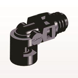 Elbow Connector, Barbed, Black - ME231
