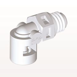 Elbow Connector, Barbed, White - ME230