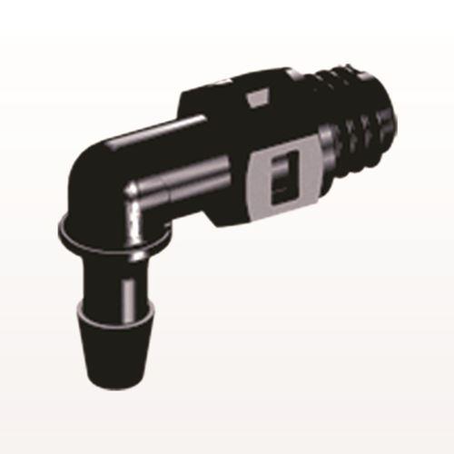 Elbow Connector, Barbed, Black - ME331