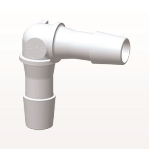 Elbow Connector, Barbed, White - HE1230