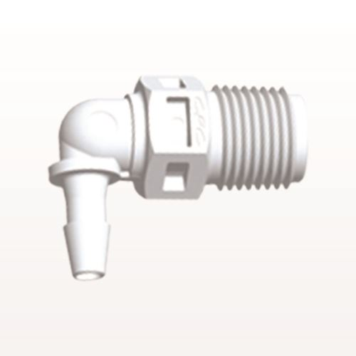 Elbow Connector, Barbed, White - N4E430