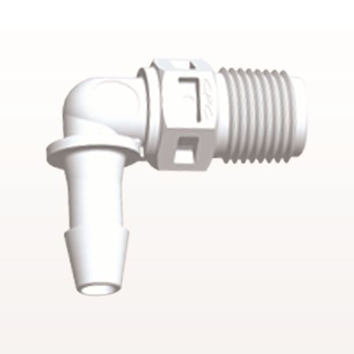 Elbow Connector, Barbed, White - N4E630