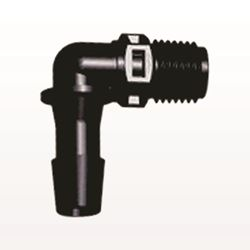 Elbow Connector, Barbed, Black - N8E1231