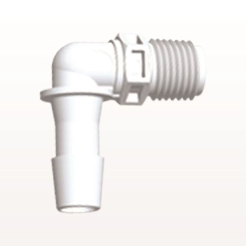 Elbow Connector, Barbed, White - N8E1230