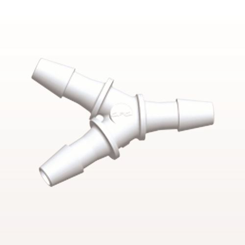 Y Connector, Barbed, White - HY430