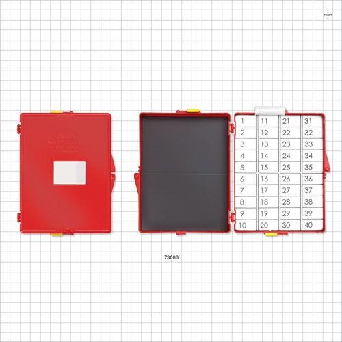 Devon® Needle Counter, Magnet/Foam, w/Locks, Red - 73083