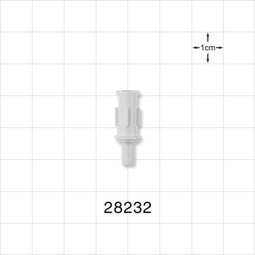 Hydrophilic Filter Hub, Female Luer Lock to Male Luer Slip - 28232