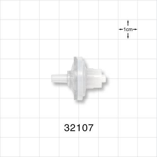 Transducer Protector, Hydrophobic, Male Luer Slip Inlet, Male Luer Lock Outlet - 32107