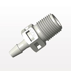 Straight Connector, Barbed, Natural - BT4S4