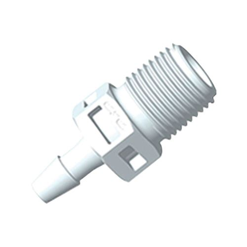 Straight Connector, Barbed, White - BT4S430
