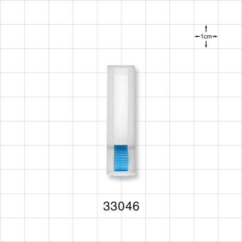 Roller Clamp, White body, Blue Wheel - 33046