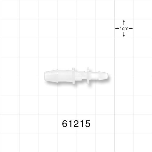 Straight Reducer Connector, Barbed, Natural - 61215