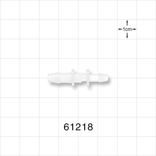 Straight Reducer Connector, Barbed, Natural - 61218