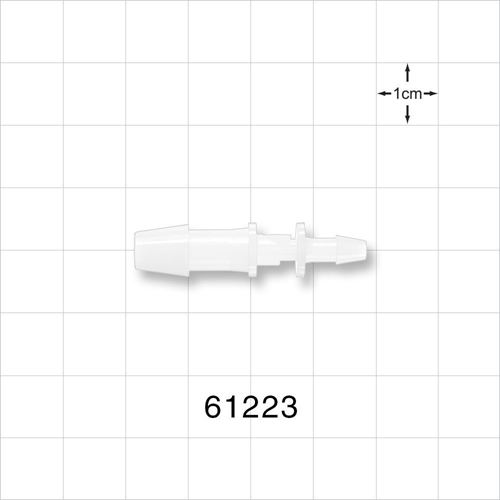Straight Reducer Connector, Barbed, Natural - 61223