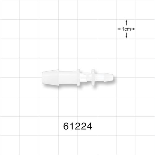 Straight Reducer Connector, Barbed, Natural - 61224