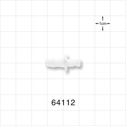 Bayonet Male Connector, Barbed, White - 64112