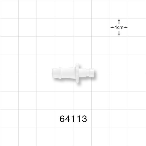 Bayonet Male Insert Connector, Barbed, White - 64113