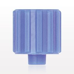 Vented Male Luer Cap, Blue - 11639