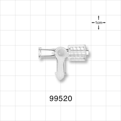 3-Way Stopcock, 2 Female Luer Locks, Male Luer with Spin Lock - 99520