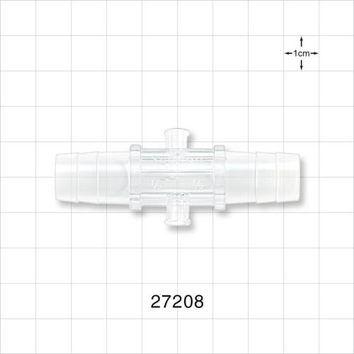 Straight Connector, Two Female Luer Lock Ports - 27208