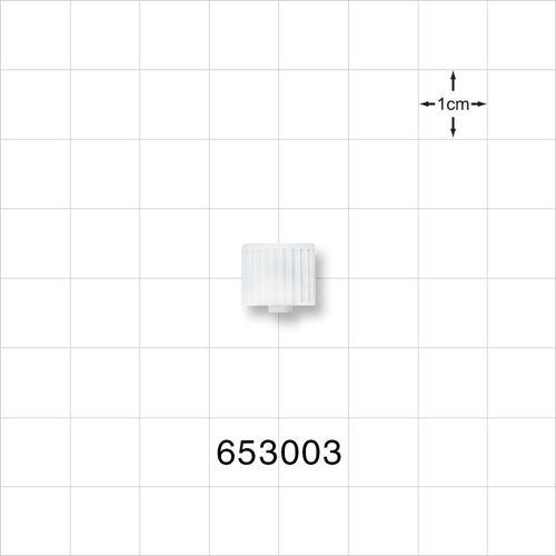 Non-Vented Male Luer Cap, White - 653003