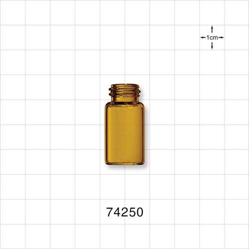 Glass Bottle, Amber - 74250