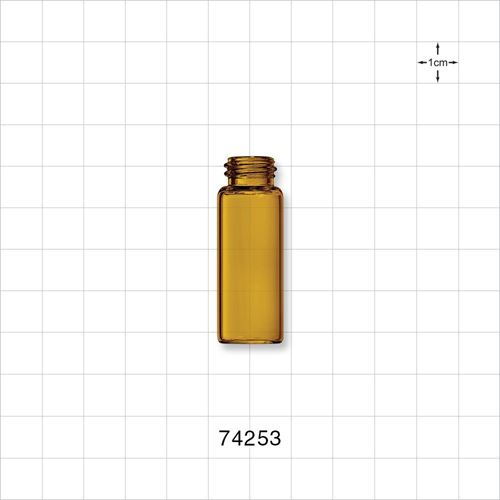 Glass Bottle, Amber - 74253