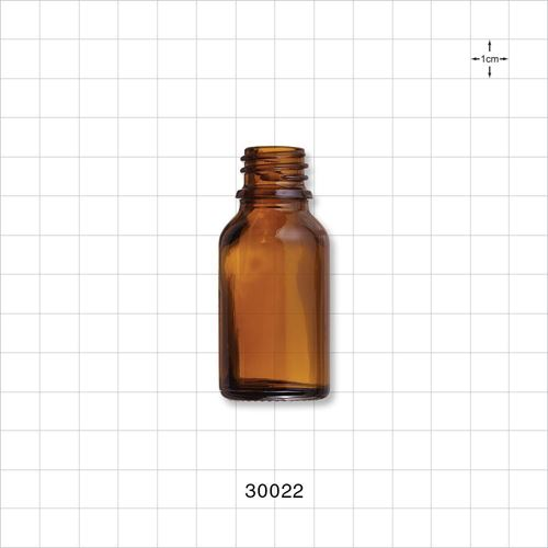 Glass Bottle, Amber - 30022