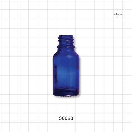 Glass Bottle, Blue - 30023