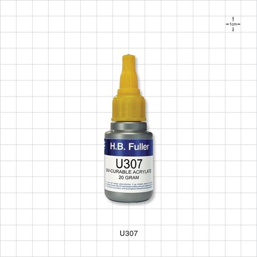 UV-Curable Acrylate 20 gram, Medium to High Viscosity for Glass, Metal and Thermoplastics - U307