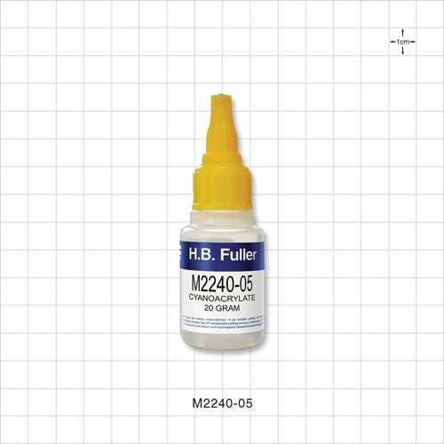 Cyanoacrylate 20 gram Instant Adhesive, Medium Viscosity, Rubber-Toughened - M2240-05