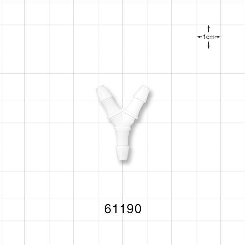 Y Connector, Barbed, Natural - 61190