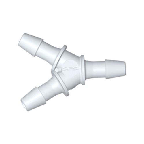 Y Connector, Barbed, White - HY330