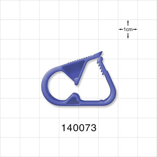 Ratchet Style Pinch Clamp, Blue - 140073