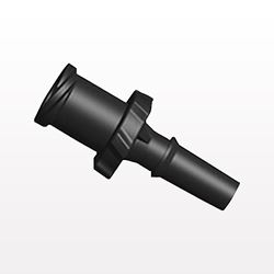 Female Luer Lock to Male Luer Slip Connector, Black - LFSLM31