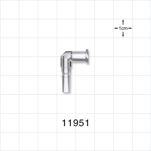 Elbow Connector, Female Luer Lock, Male Luer Slip - 11951