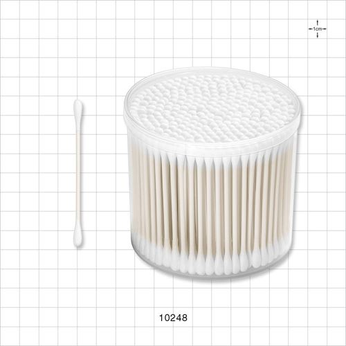 Dual Ended Round Tip Swab with Paper Handle in Cylinder Container - 10248