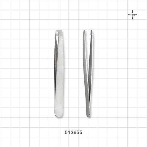 Slanted Tweezer, Silver - 513655