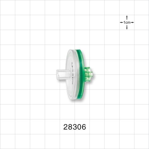 Hydrophilic Filter, Female Luer Lock Inlet, Male Luer Lock Outlet - 28306